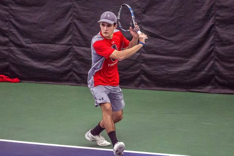 Austin Peay Men's Tennis unable to get on track at home against Detroit Mercy, Thursday. (APSU Sports Information)