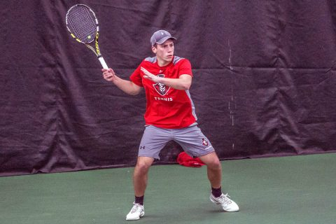 APSU Men's Tennis falls to Tennessee State in home opener, Friday. (APSU Sports Information)