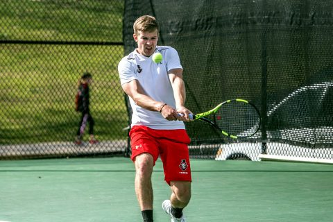 Austin Peay Men's Tennis unable to get on track against Tennessee Tech, Friday. (APSU Sports Information)