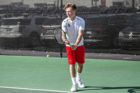 Austin Peay Men's Tennis starts strong, but falls to Saint Louis, Tuesday. (APSU Sports Information)