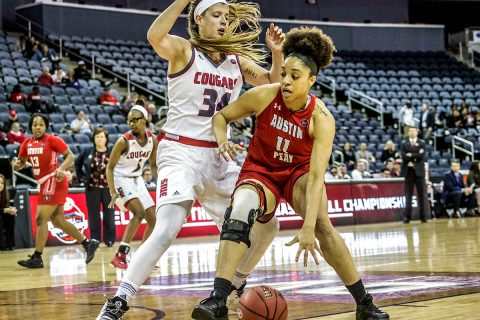 Austin Peay Women's Basketball falls in the first round of the OVC Tournament to SIU Edwardsville, 76-43. (APSU Sports Information)