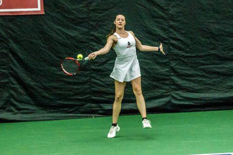 Austin Peay Women's Tennis overcomes slow start to beat UT Martin 5-2, Saturday. (APSU Sports Information)