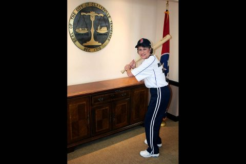 """On Major League Baseball's Opening Day Thursday, Mayor Kim McMillan urged citizens to enjoy the start of another baseball season. """"The Red Sox are one of my favorite teams, so I'm wearing a Boston cap, """" McMillan said.  """"Join me and wear your favorite cap for the start of the season."""""""