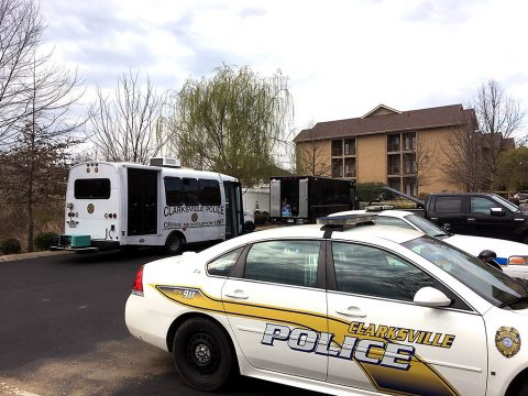 Clarksville Police standoff with barricaded suspect on Big Sky Drive ends in shooting.