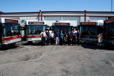 Clarksville Transit System has added five new fuel-efficient hybrid buses to its fleet, replacing older high-mileage conventional diesel fuel vehicles.