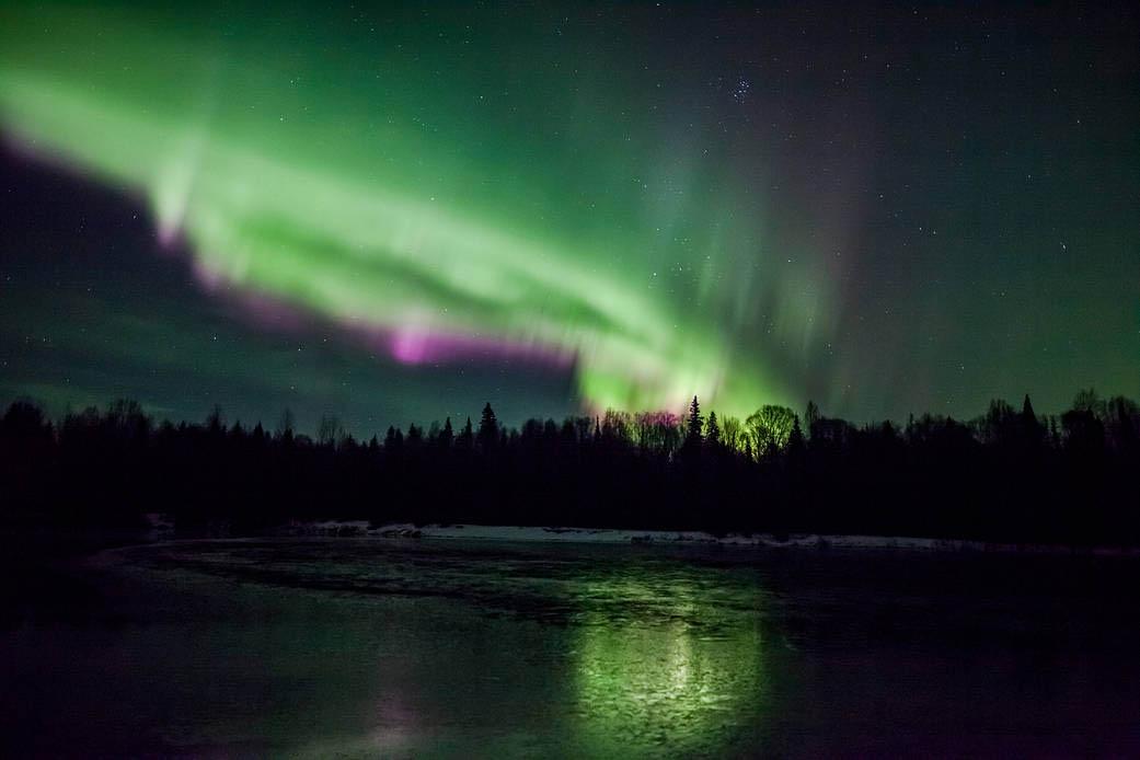 Aurora as seen from Talkeetna, Alaska, on Nov. 3, 2015. (Dora Miller)