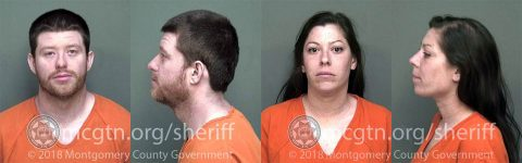 (L to R) Ryan Wirfel and Tawny Brayman have been arrested by Clarksville Police for stealing a wallet on February 28th, 2018.