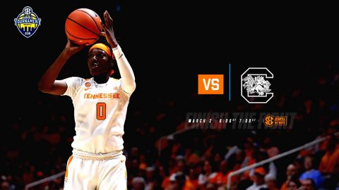Tennessee Women's Basketball takes on South Carolina in the OVC Tournament Friday at Bridgestone Arena. (Tennessee Athletics)