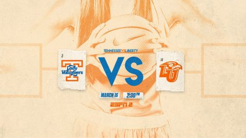 Tennessee Women's Basketball faces Liberty in first round of the NCAA Basketball Tournament at Thompson-Boling Area Friday. Tip off is at 1:30pm CT. (Tennessee Athletics)
