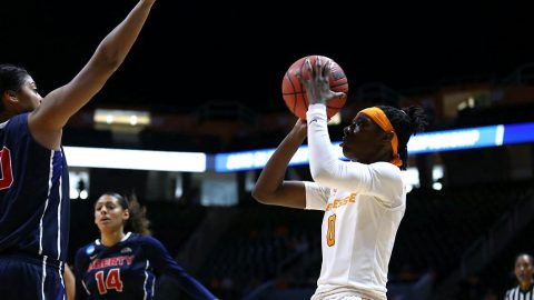 Tennessee Women's Basketball forward Rennia Davis had 18 points and 11 rebounds in win over Liberty Friday. (Tennessee Athletics)