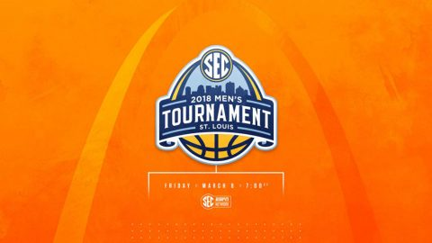 Tennessee Men's Basketball heads to St. Louis, Tuesday, for the SEC Tournament. They will face the winner of the Mississippi State/LSU game. (Tennessee Athletics)