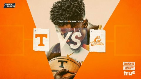 Tennessee Men's Basketball faces Wright State in the NCAA Tournament at the American Airlines Center, Thursday. Tip off is at 11:40pm CT. (Tennessee Athletics)