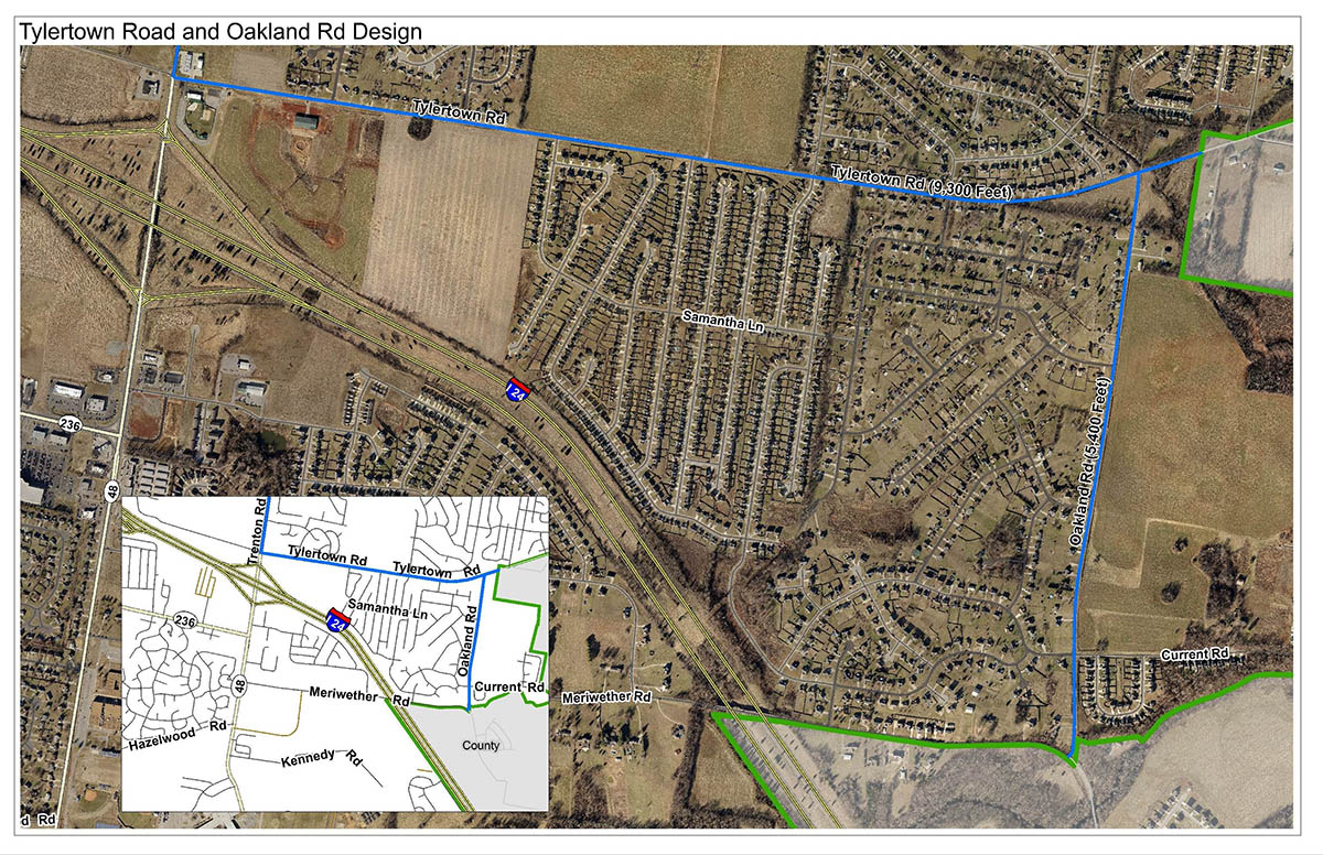 Tylertown Road and Oakland Road Design.