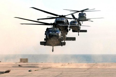 UH60 Black Hawk helicopters will be landing at APSU for ROTC training. (Sgt. 1st Class Ty McNeeley, U.S. ARCENT PAO)