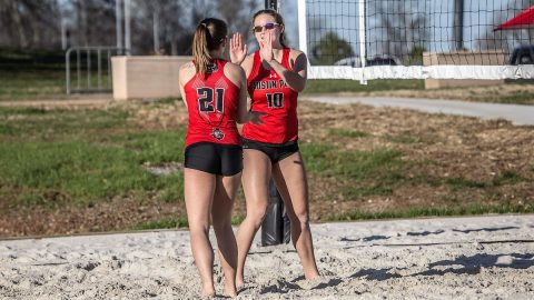 Austin Peay Beach Volleyball fall to Central Arkansas and Mercer, Saturday. (APSU Sports Information)