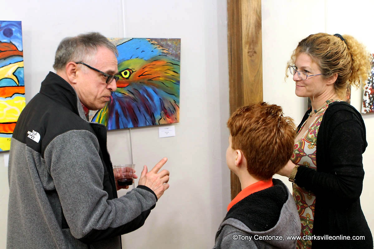 Works by local artists, Bob privett, and Beverly Parker, were featured at the Downtown Artists Co-op for April's First Thursday Art Walk.