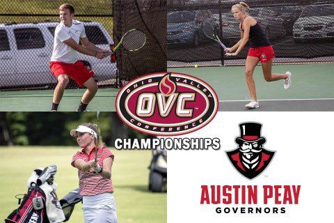 Austin Peay Women's Golf, Men's Tennis and Women's Tennis begin OVC Championship Tournaments this week.