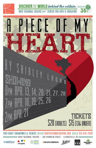 """A Piece of my Heart"" takes stage at the Roxy Regional Theatre, April 13th-April 28th"