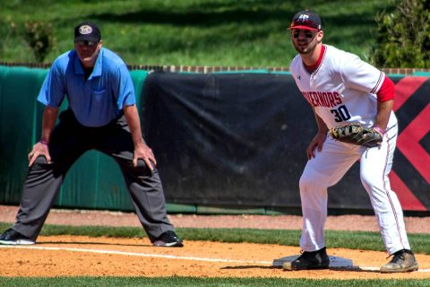 Austin Peay Baseball plays final series game against Eastern Kentucky at Raymond C. Hand Field, Sunday. (APSU Sports Information)