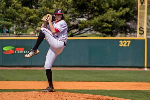 Austin Peay Baseball starting pitcher junior Brandon Vial had two strikeouts and gave up four runs on six hits during six innings of play against Eastern Kentucky Sunday afternoon at Raymond C. Hand Park. (APSU Sports Information)