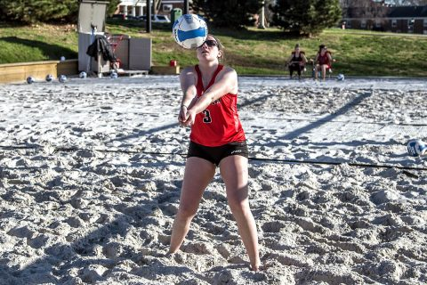 Austin Peay Beach Volleyball faces off with Morehead State, Monday. (APSU Sports Information)