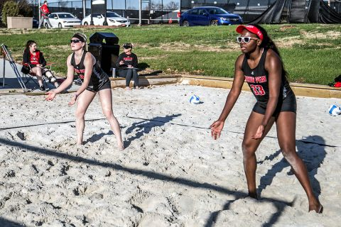 Austin Peay Beach Volleyball sweeps both sets at Morehead State, Monday. (APSU Sports Information)