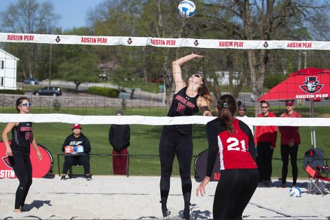 Austin Peay Beach Volleyball opens Ohio Valley Challenge with wins over Jacksonville State and Morehead State. (APSU Sports Information)