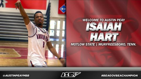 Austin Peay Men's Basketball signs Motlow State Community College guad Isaiah Hart during Spring Signing Period. (APSU Sports Information)