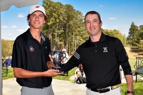 Austin Peay Men's Golf freshman Chase Korte shoot a final round 67 to come in runner up at the Coca-Cola Wofford Intercollegiate. (APSU Sports Information)
