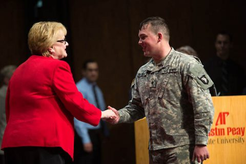 APSU Military and Veteran Graduate Recognition Ceremony to be held Wednesday, May 2nd.