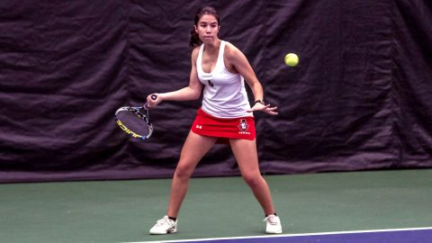 Austin Peay Women's Tennis plays the Murray State Racers in the Heritage Bank Battle of the Border Tuesday afternoon. (APSU Sports Information)