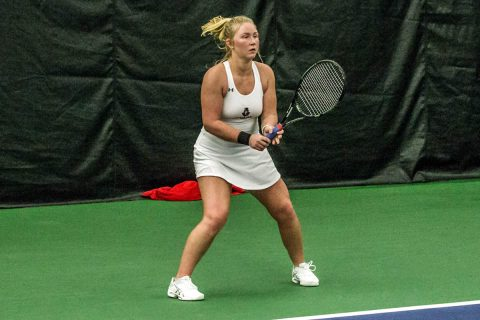 Austin Peay Women's Tennis gets 4-1 win over UT Martin at the OVC Tournament, Friday afternoon. (APSU Sports Information)