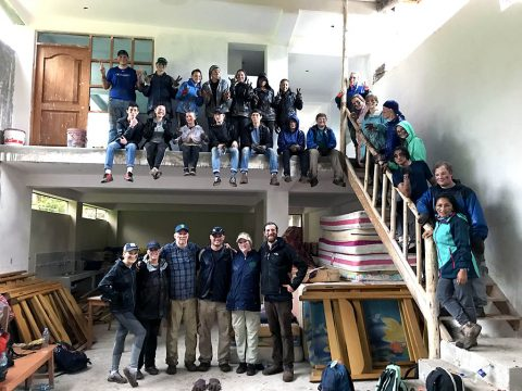 25 Clarksville Academy Students helping build a school dorm in Peru for 22 girls.