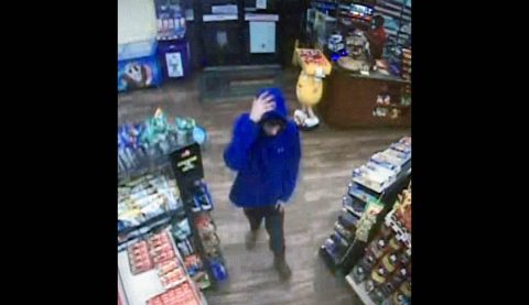 Clarksville Police are trying to identify the person in this photo for the robbery of the Shell Station at Wilma Rudolph Boulevard and Needmore road.