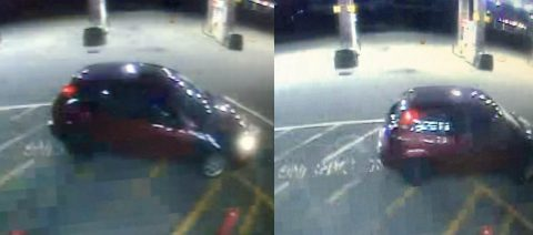 Photos of the robbery suspects car.