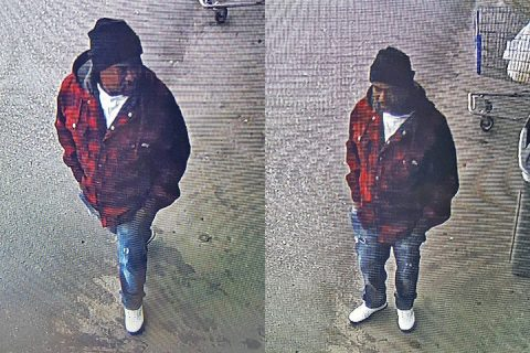 Clarksville Police are looking for the man in these photos for the burglary of several vehicles.
