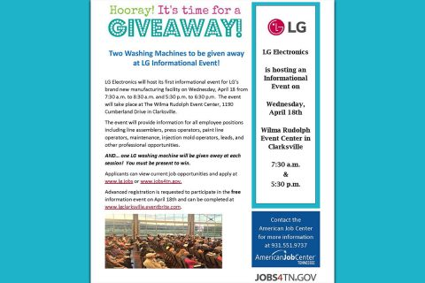 LG Informational Job Fair Flyer