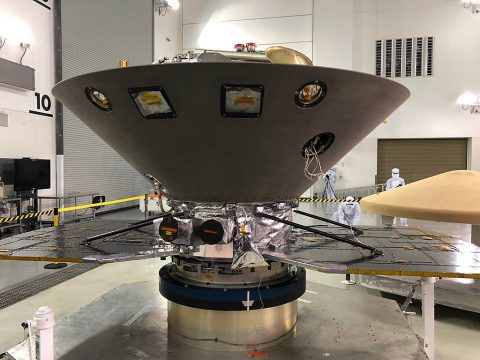 NASA's InSight to Mars undergoes final preparations at Vandenberg Air Force Base, CA, ahead of its May 5th launch date. (NASA/JPL-Caltech)