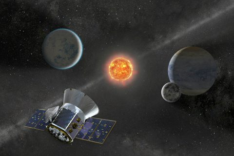 NASA's Transiting Exoplanet Survey Satellite (TESS) is set to launch on a SpaceX Falcon 9 rocket from Space Launch Complex 40 at Cape Canaveral Air Force Station in Florida no earlier than April 16, 2018. Once in orbit, TESS will spend about two years surveying 200,000 of the brightest stars near the sun to search for planets outside our solar system. (NASA)