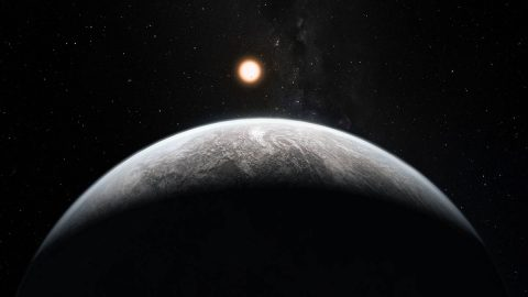 This rocky super-Earth is an illustration of the type of planets future telescopes, like TESS and James Webb, hope to find outside our solar system. (ESO/M. Kornmesser)