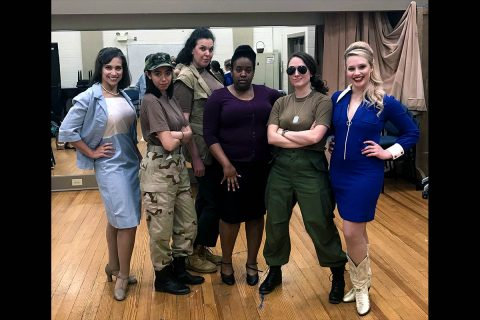 "Sara Fetgatter, Zoe Abuyuan, Jackie Ostick, Jamila Hunter, Emily Rourke and Quinn Tierney Vaira star in Shirley Lauro's ""A Piece of my Heart"" at the Roxy Regional Theatre, April 13th-April 28th."