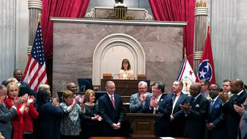 Tennessee Representative Joe Pitts honored by colleagues on the House Floor, Thursday, March 29th, 2018.