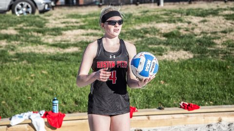 Austin Peay Beach Volleyball loses to Central Arkansas and Louisiana-Monroe, Friday. (APSU Sports Information)
