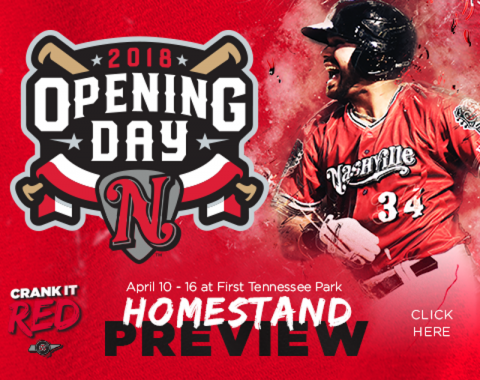 Opening Day, Two Fireworks Shows, Multiple Giveaways Highlight Homestand. (Nashville Sounds)
