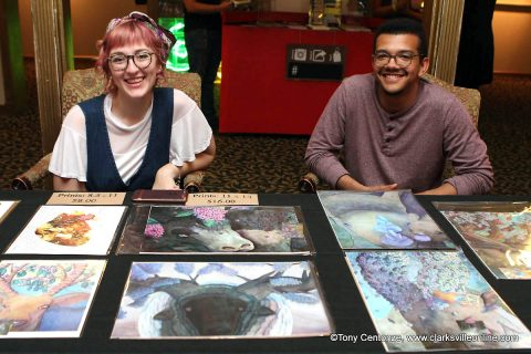 Several downtown establishments featured local artists for Clarksville's May First Thursday Art Walk.