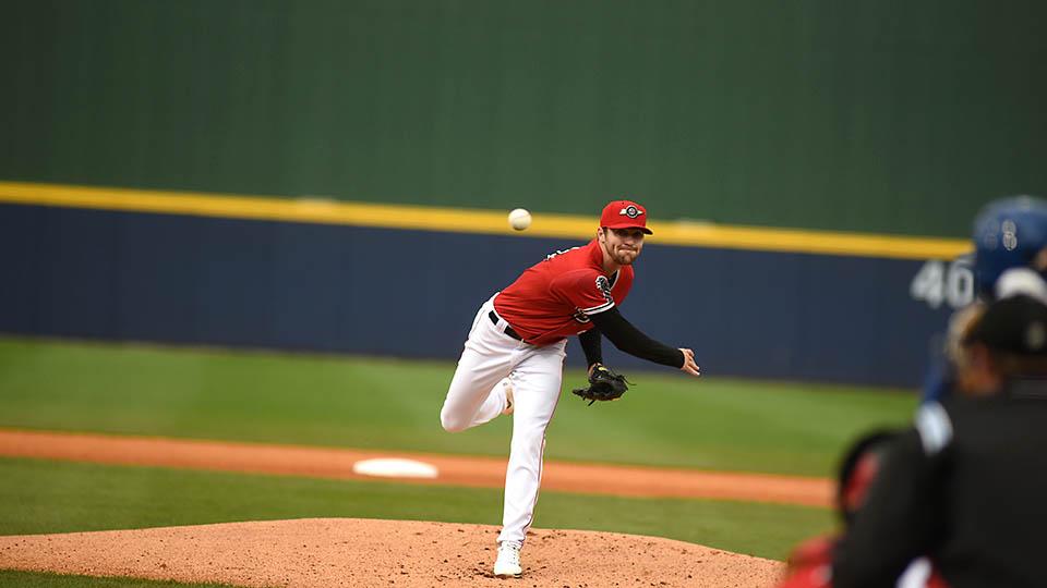 Nashville Sounds pitcher James Naile Fans Seven While Jorge Mateo Drives in Three Runs. (Nashville Sounds)