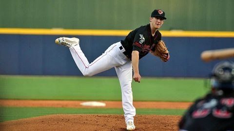 Nashville Sounds right handed pitcher Daniel Gossett Hurls Six Shutout Innings against Memphis Redbirds Tuesday afternoon. (Nashville Sounds)