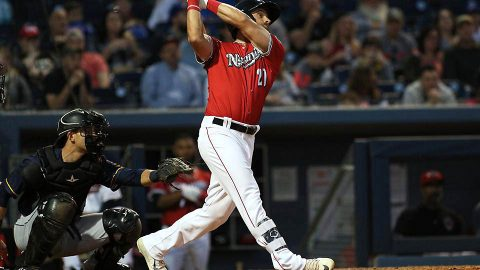 Nashville Sounds First Baseman Nick Martini Records His Second Career Multi-Home Run Game. (Nashville Sounds)