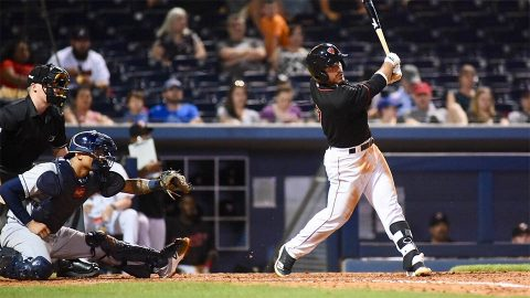 Right Fielder Ramon Laureano Belts Solo Homer as Nashville Sounds Start Homestand With Win. (Nashville Sounds)