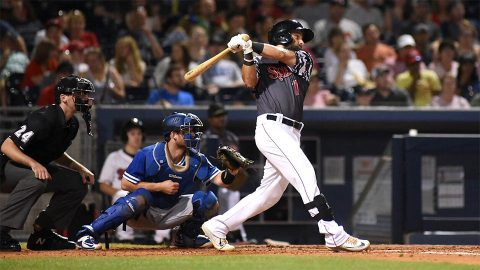 Nashville Sounds Outfielder Nick Martini Sets PCL Era Franchise Record. (Nashville Sounds)